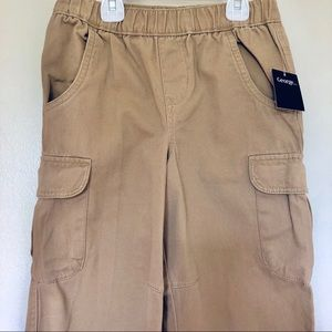 Boys Khaki Cotton Cargo Pants